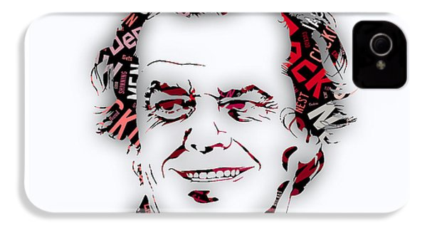 Jack Nicholson Movie Titles IPhone 4s Case by Marvin Blaine