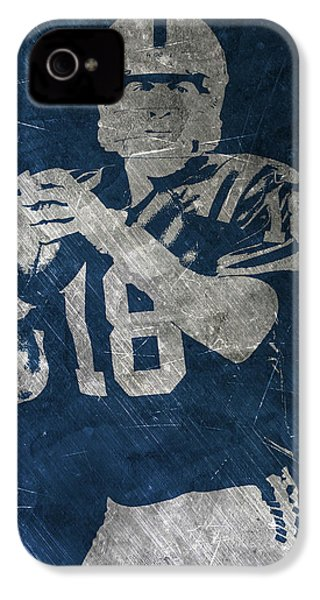 Peyton Manning Colts IPhone 4s Case by Joe Hamilton