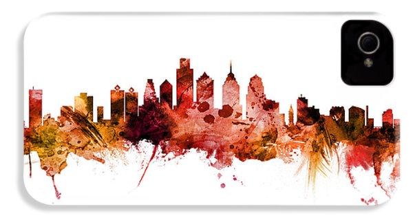 Philadelphia Pennsylvania Skyline IPhone 4s Case by Michael Tompsett