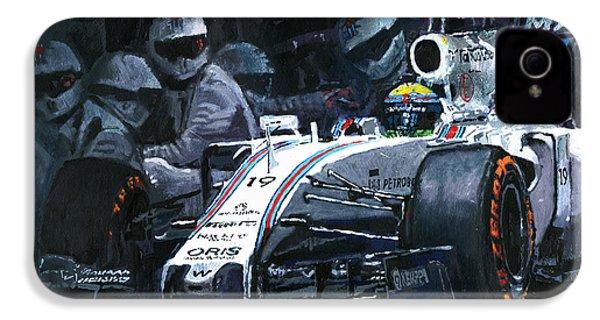 2015 Williams Fw37 F1 Pit Stop Spain Gp Massa  IPhone 4s Case by Yuriy Shevchuk