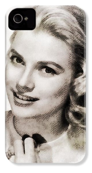 Grace Kelly, Vintage Hollywood Actress IPhone 4s Case by John Springfield