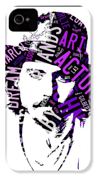 Johnny Depp Movie Titles IPhone 4s Case by Marvin Blaine