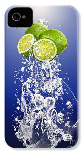 Lime Splash IPhone 4s Case by Marvin Blaine