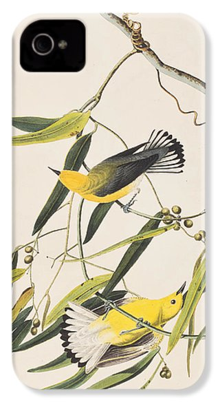 Prothonotary Warbler IPhone 4s Case by John James Audubon