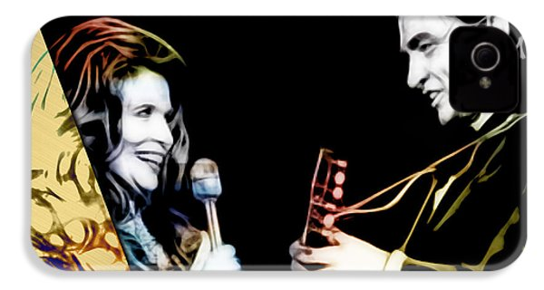 June Carter And Johnny Cash Collection IPhone 4s Case by Marvin Blaine