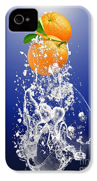 Orange Splash IPhone 4s Case by Marvin Blaine