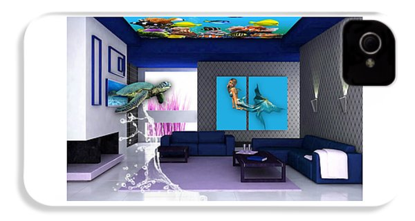 Rooftop Saltwater Fish Tank Art IPhone 4s Case