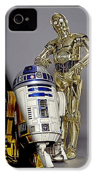 Star Wars C3po And R2d2 Collection IPhone 4s Case by Marvin Blaine