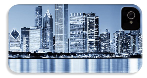 Chicago Skyline At Night IPhone 4s Case by Paul Velgos