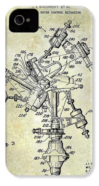 1950 Helicopter Patent IPhone 4s Case by Jon Neidert