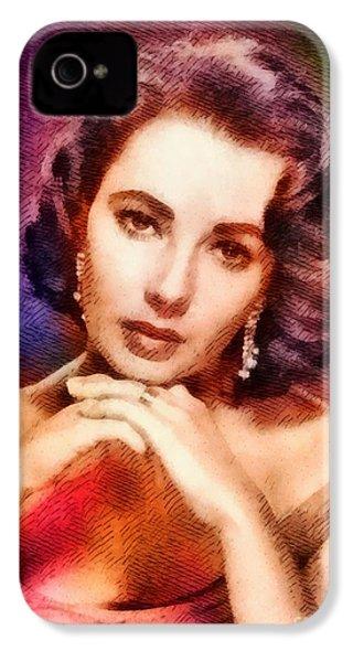 Elizabeth Taylor, Vintage Hollywood Legend IPhone 4s Case by John Springfield