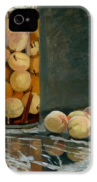 Jar Of Peaches IPhone 4s Case by Claude Monet