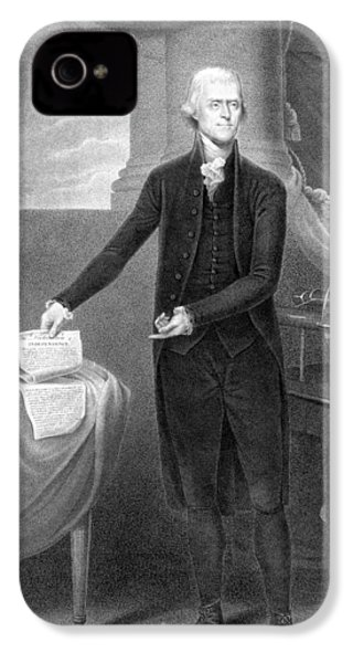 Thomas Jefferson IPhone 4s Case by War Is Hell Store