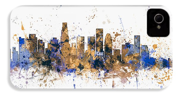 Los Angeles California Skyline IPhone 4s Case by Michael Tompsett