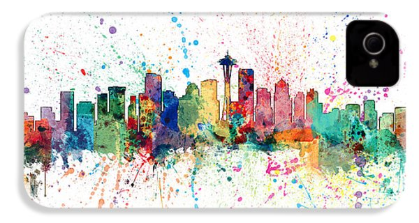 Seattle Washington Skyline IPhone 4s Case by Michael Tompsett