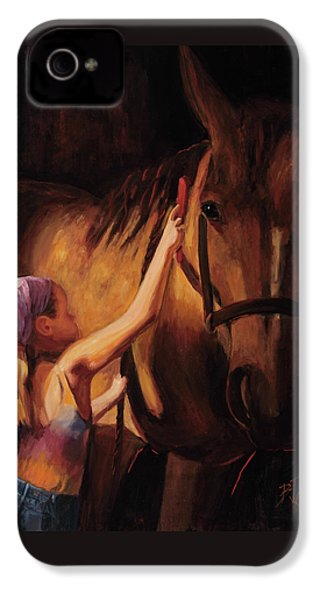 A Girls First Love IPhone 4s Case by Billie Colson
