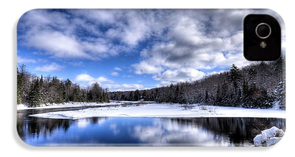 IPhone 4s Case featuring the photograph A Moose River Snowscape by David Patterson