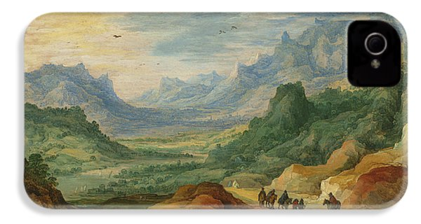 A Mountainous Landscape With Travellers And Herdsmen On A Path IPhone 4s Case by Jan Brueghel and Joos de Momper