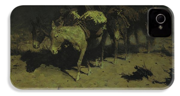 A Pack Train IPhone 4s Case by Frederic Remington