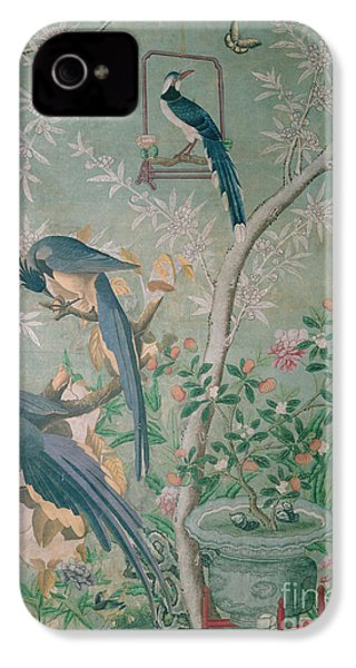 A Pair Of Magpie Jays  Vintage Wallpaper IPhone 4s Case by John James Audubon