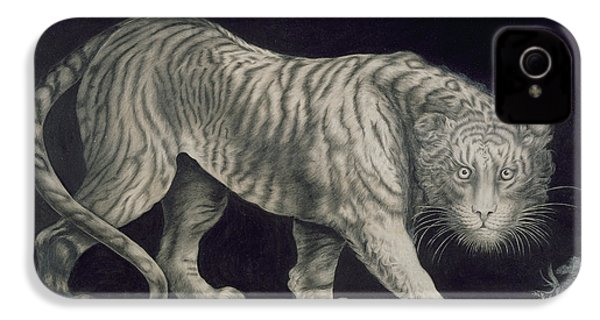 A Prowling Tiger IPhone 4s Case by Elizabeth Pringle