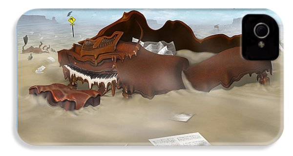 A Slow Death In Piano Valley Sq IPhone 4s Case by Mike McGlothlen