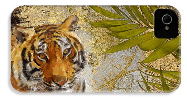 A Taste Of Africa Tiger IPhone 4s Case by Mindy Sommers
