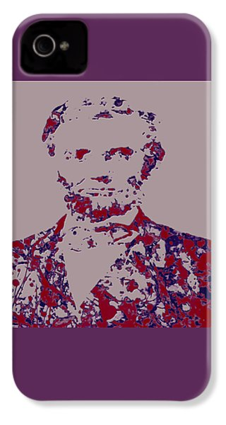 Abraham Lincoln 4c IPhone 4s Case by Brian Reaves