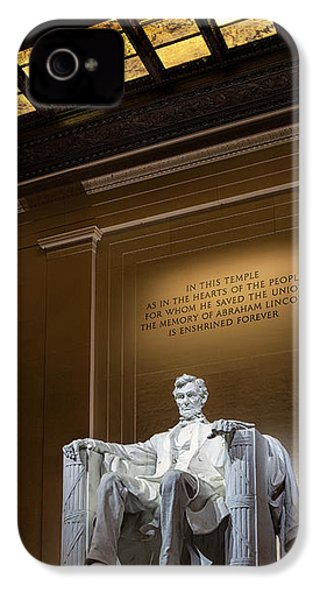 Abraham Lincoln IPhone 4s Case by Andrew Soundarajan