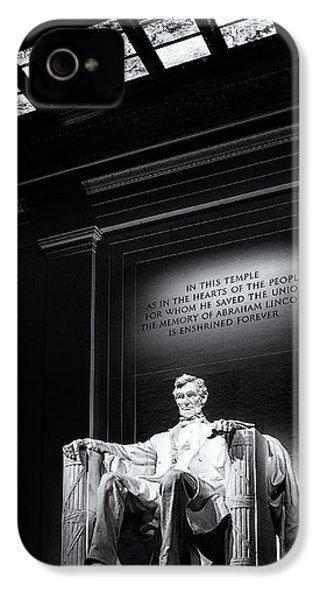 Abraham Lincoln Seated IPhone 4s Case by Andrew Soundarajan