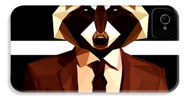 Abstract Geometric Raccoon IPhone 4s Case by Gallini Design