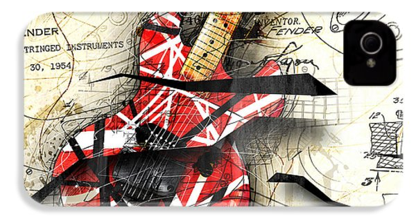 Abstracta 35 Eddie's Guitar IPhone 4s Case by Gary Bodnar
