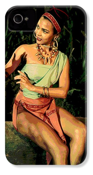 Actress Dorothy Fandridge IPhone 4s Case by Charles Shoup