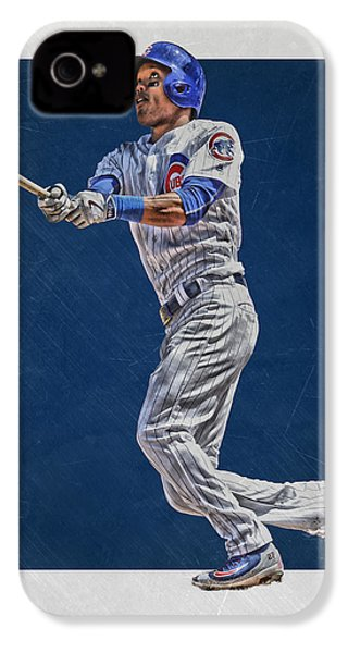 Addison Russell Chicago Cubs Art IPhone 4s Case by Joe Hamilton