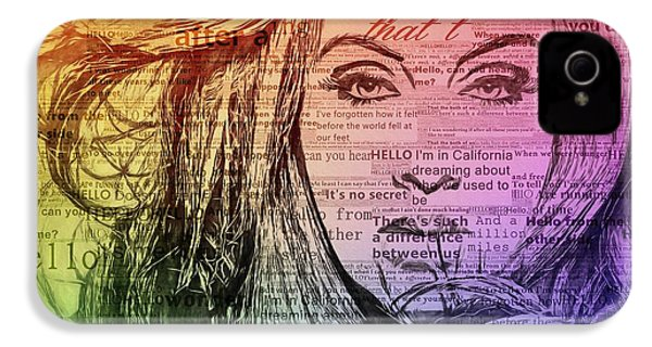 Adele Hello Typography  IPhone 4s Case by Dan Sproul