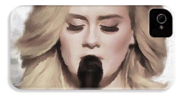 Adele Portrait Hello IPhone 4s Case by Yury Malkov