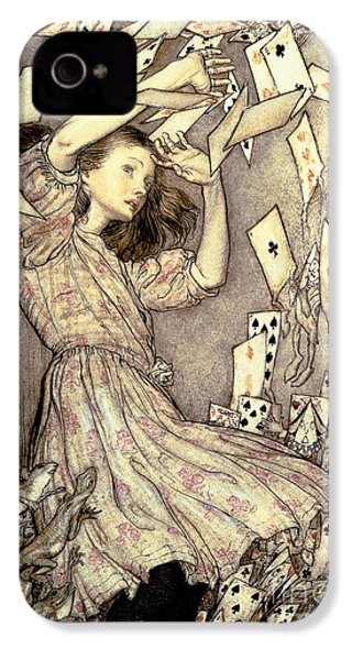 Adventures In Wonderland IPhone 4s Case by Arthur Rackham