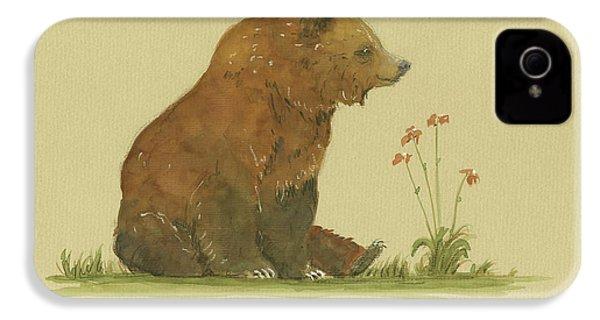 Alaskan Grizzly Bear IPhone 4s Case by Juan Bosco