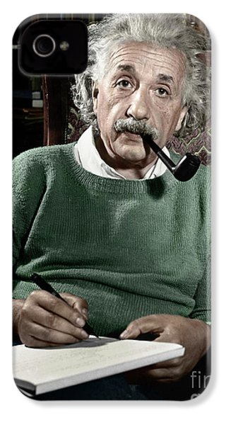 Albert Einstein IPhone 4s Case by Granger