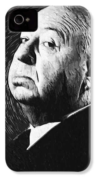 Alfred Hitchcock IPhone 4s Case by Taylan Apukovska