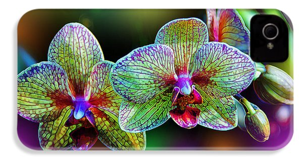 Alien Orchids IPhone 4s Case by Bill Tiepelman