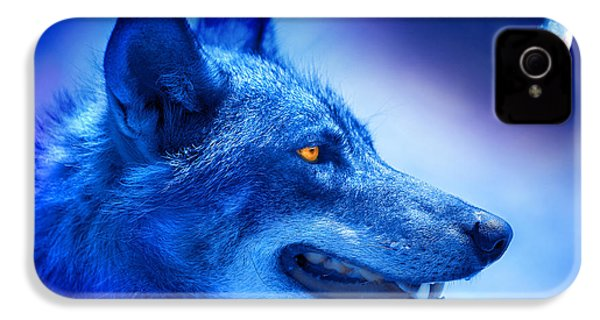 Alpha Wolf IPhone 4s Case by Mal Bray