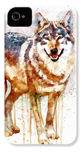 Alpha Wolf IPhone 4s Case by Marian Voicu