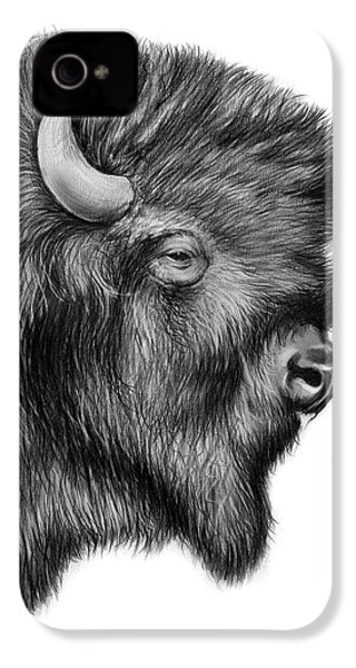 American Bison IPhone 4s Case by Greg Joens