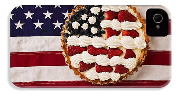 American Pie On American Flag  IPhone 4s Case