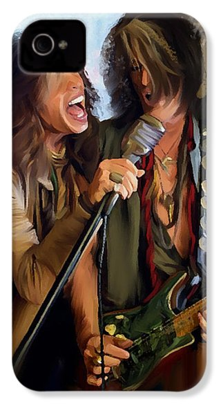 American Rock  Steven Tyler And Joe Perry IPhone 4s Case by Iconic Images Art Gallery David Pucciarelli