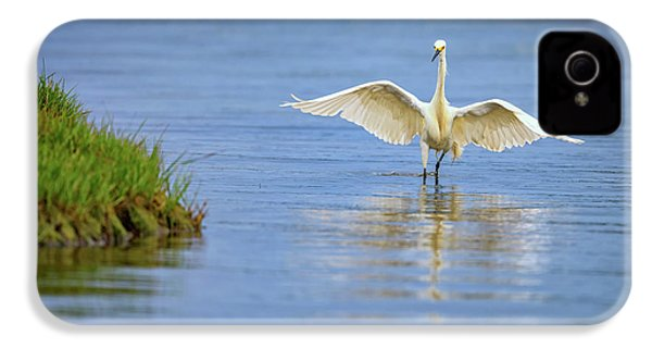 An Egret Spreads Its Wings IPhone 4s Case by Rick Berk