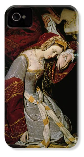 Anne Boleyn In The Tower IPhone 4s Case by Edouard Cibot