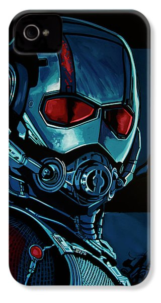 Ant Man Painting IPhone 4s Case by Paul Meijering