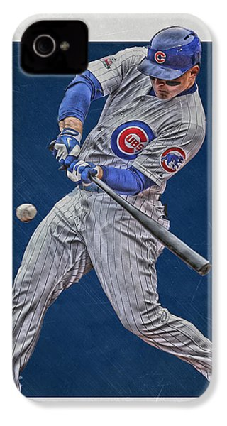 Anthony Rizzo Chicago Cubs Art 1 IPhone 4s Case by Joe Hamilton